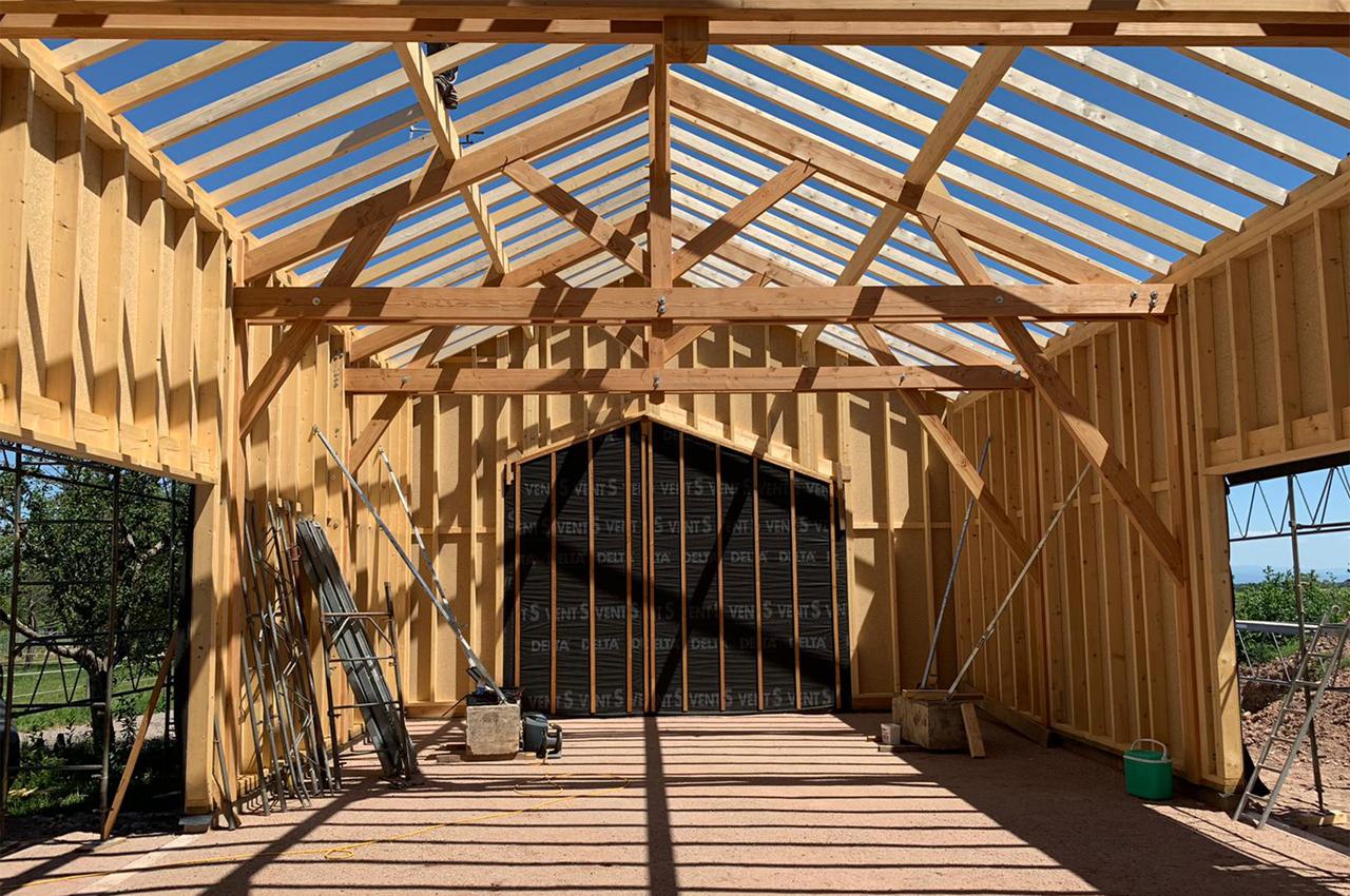Maison d'habitation en bois en Alsace