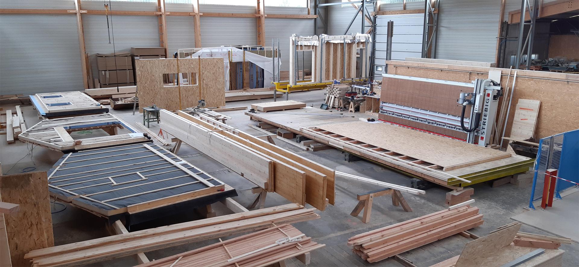 maison en bois - taillage du bois
