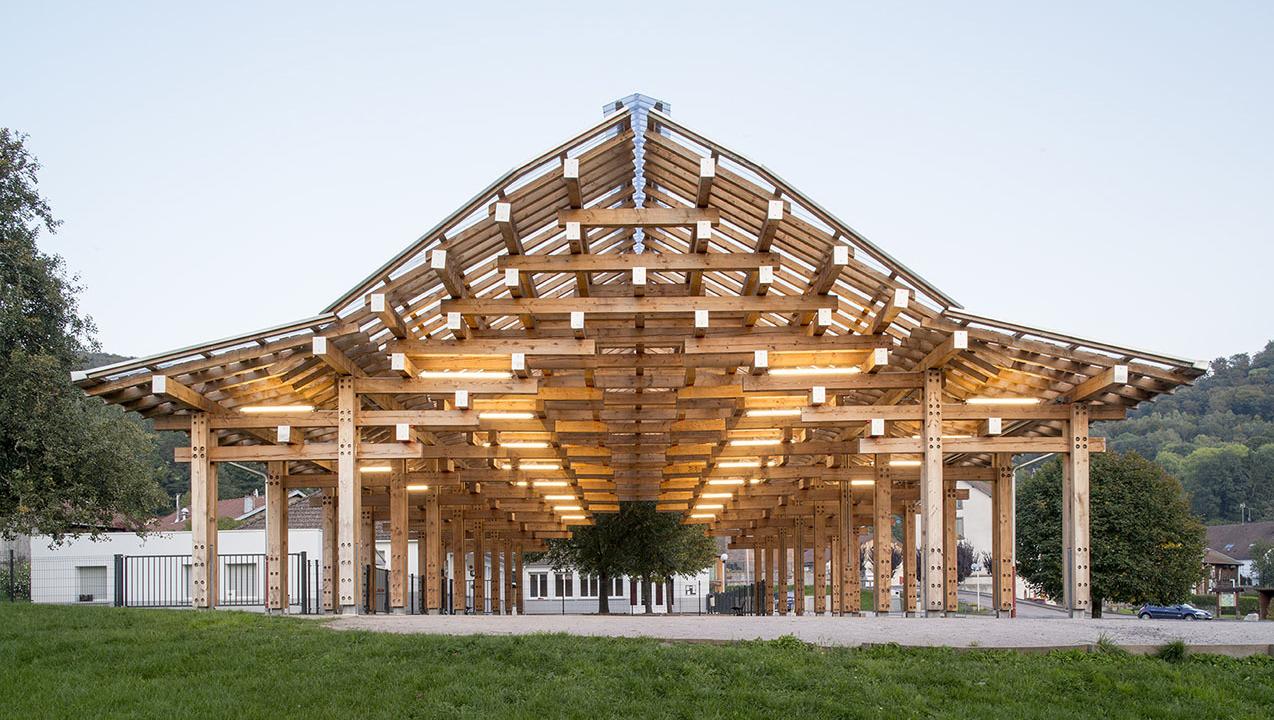 batiment ossature bois - Vosges Tendon - 03