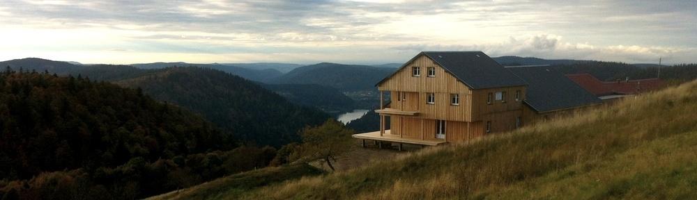 construction bois - refuge en bois - Honeck 01
