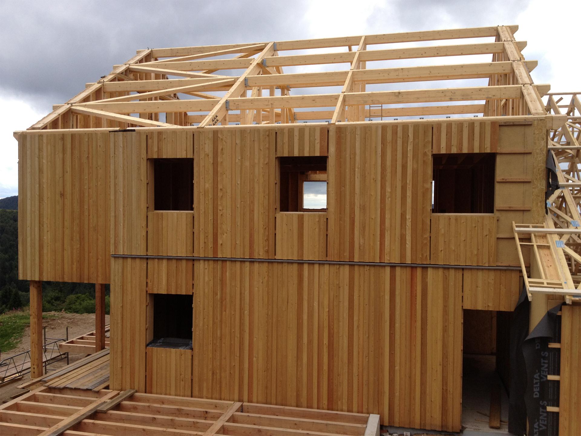 construction bois - refuge en bois - Honeck 04