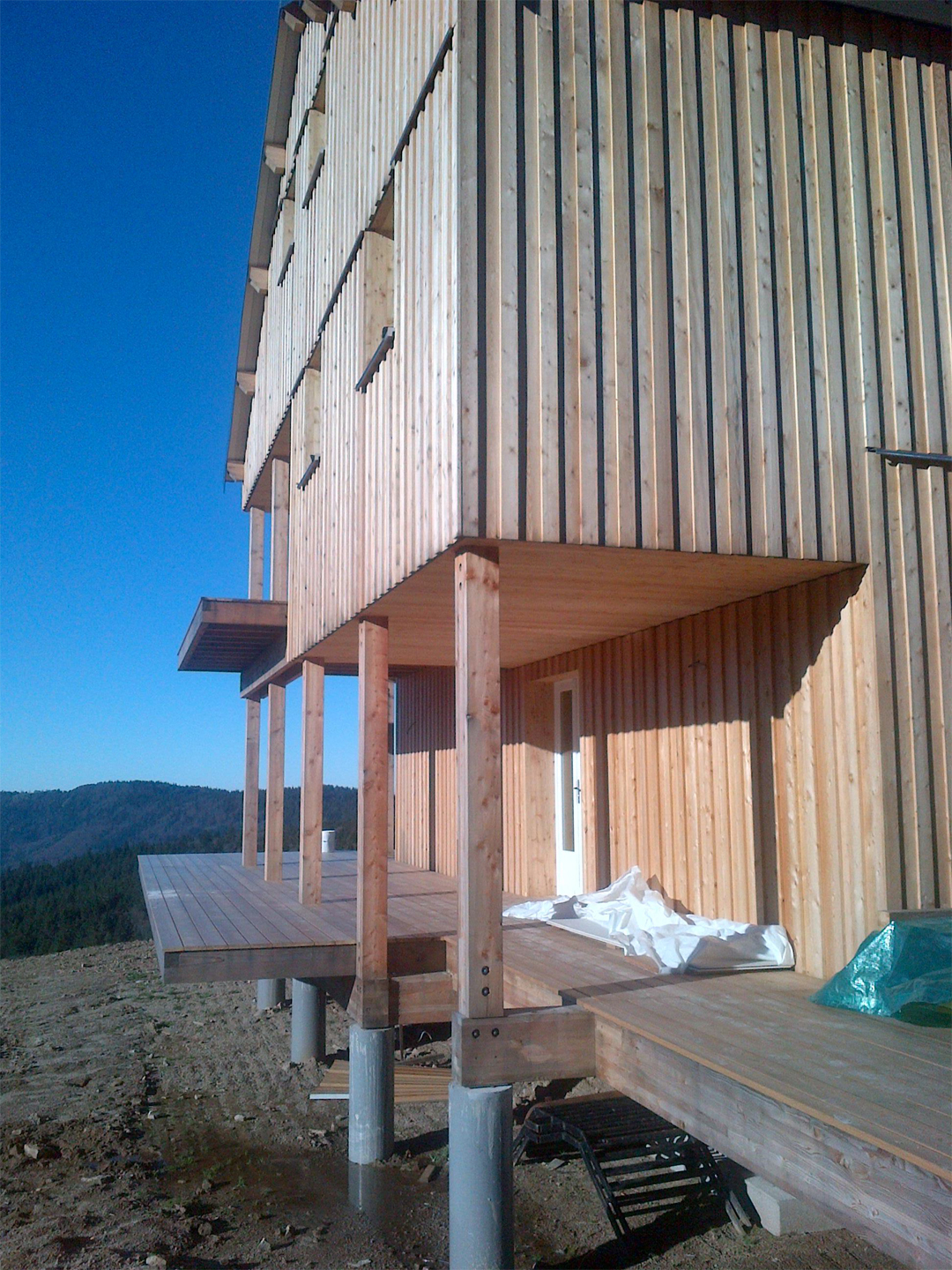 construction bois - refuge en bois - Honeck 05