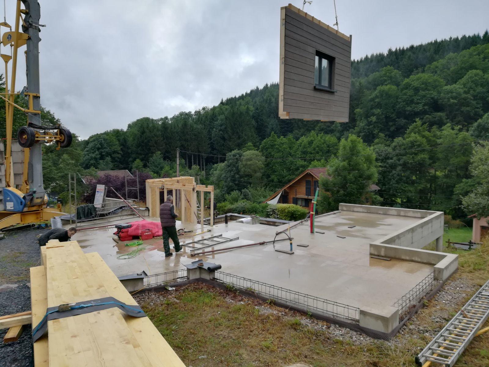 maison en bois - pose du bois